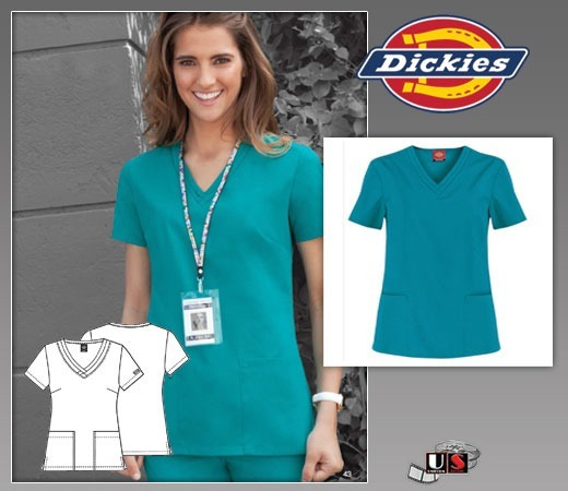 Conjunto De Uniforme Medico Dama Dickies Eds Xl-azul Claro