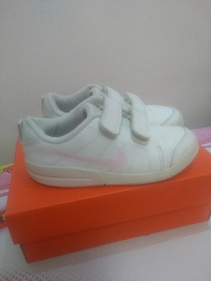 Tênis Nike Original Branco E Rosa