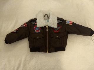 Campera De Vuelo - Fly Jacket Importada Vintage- 12 A 18 M