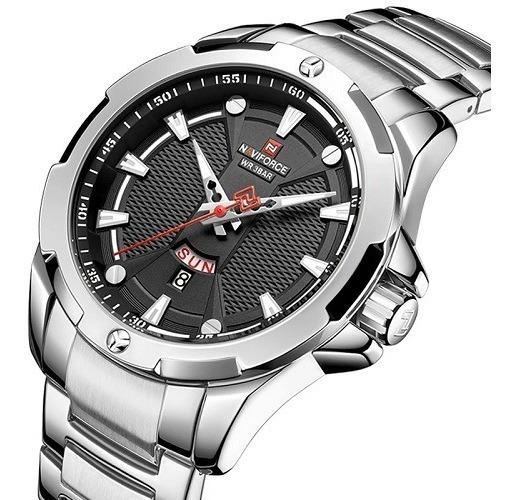 Relógio Naviforce Masculino 9161 (preto E Prata)