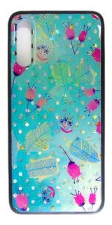 Carcasa Diseño Plumas Celeste Samsung A70
