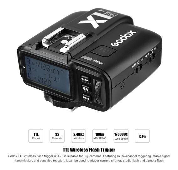 Godox X1t-f 2.4g Ttl Sem Fio Disparador De Flash 1 / 8000s