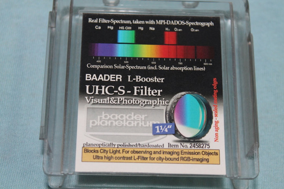 Filtro Para Nebulosas Telescópio Baader Uhc-s 1,25