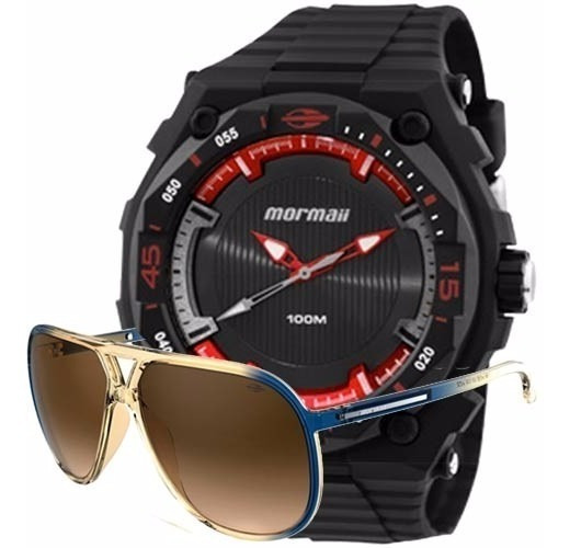 Kit Relógio Mormaii Masculino Action Com Óculos Mo15oc/48