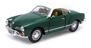 1966 Volkswagen Karmann-ghia Verde - Escala 1:18 - Yat Ming