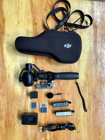 Dji Osmo+ 4k (com Zoom, Microfone, Cartões E Bateria Extra)