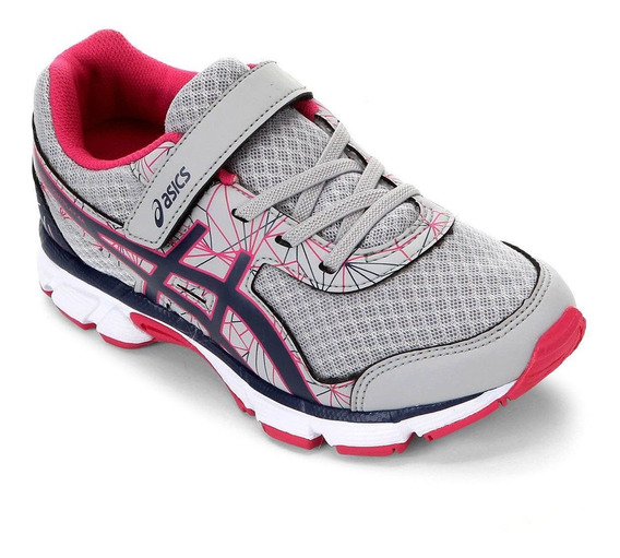 Tenis Asics Infantil Light Play 4 A Ps C/ Elástico Cinza