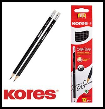 Lapiz De Grafito Kores Caja 12 Unidades Pack X 5