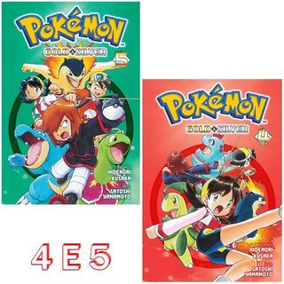 Pokémon Gold & Silver 4 E 5! Mangá Panini! Novo E Lacrado!