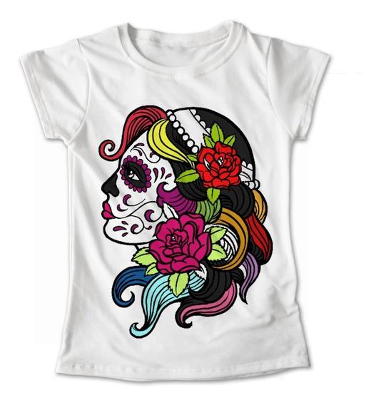 Blusa Colores Playera Flores Calaveras Dia De Muertos #278
