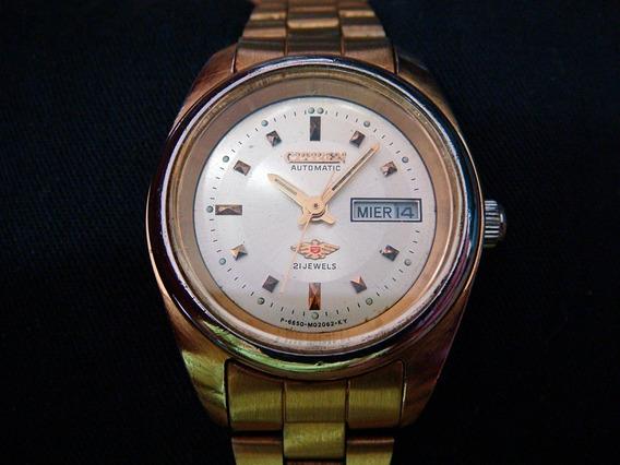 Bonito Reloj Citizen Para Dama Automático Dorado