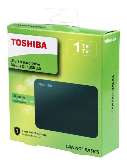 Disco Duro 1tb Toshiba Externo Canvio Negro 2.5 Usb 3.0 Pc