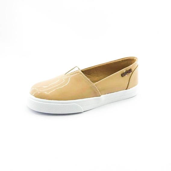 Tênis Slip On Quality Shoes Feminino 002 Verniz Bege
