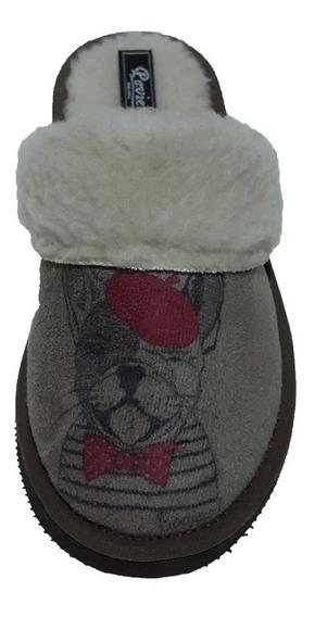 Pantuflas De Mujer Con Estampado Perritos Corderito A403
