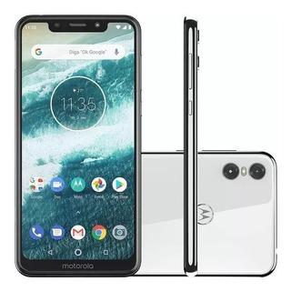 Celular Barato Motorola Moto One 64gb-4gb Tela 5,9+ Capinha