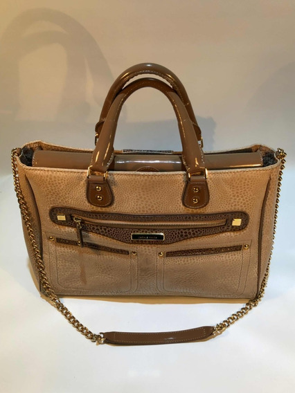 Cartera Jackie Smith Bellini Color Nude Y Ocre