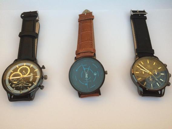 Relógios Masculino, Todos Pulseiras De Couro.