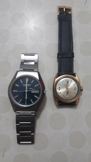 Dois Lindos Relógios Antigos E Raros. Citzen E Mirvaine