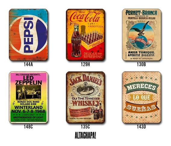 6 Chapas Rústicas Vintage Varios Diseños 20x28cm
