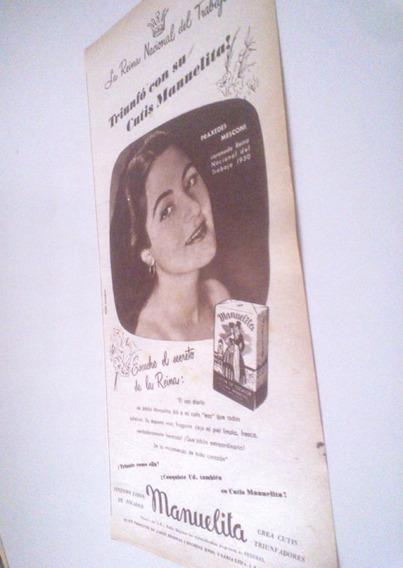 Antigua Publicidad Jabon Manuelita - Perfumería Femenina