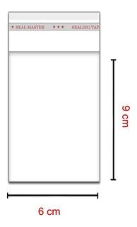 100 Saquinhos 6 X 9 Cm Autocolante Transparente Item