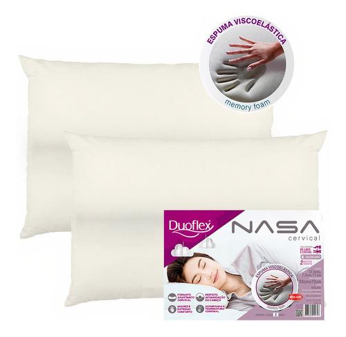 Kit 2 Travesseiros Nasa Viscoelástico Cervical Duoflex