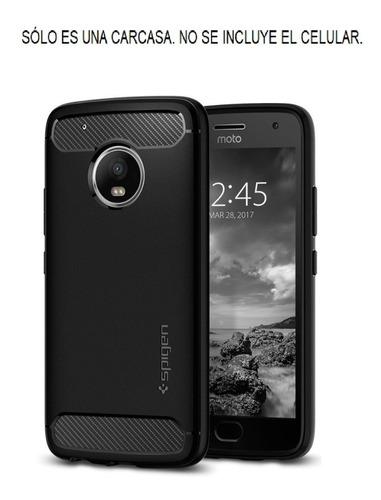 Motorola Moto G5 Plus Spigen Rugged Armor Carcasa Funda Case