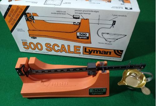 Balanza Lyman 500 Grains Scale Precisión Pólvora Usa