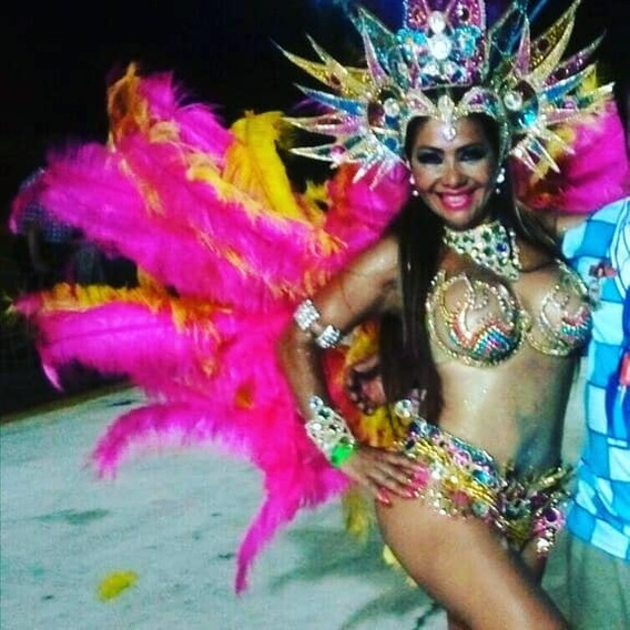 Traje Carnaval Corpiño 95-10 Caderin Casquete Y Espaldar Tod