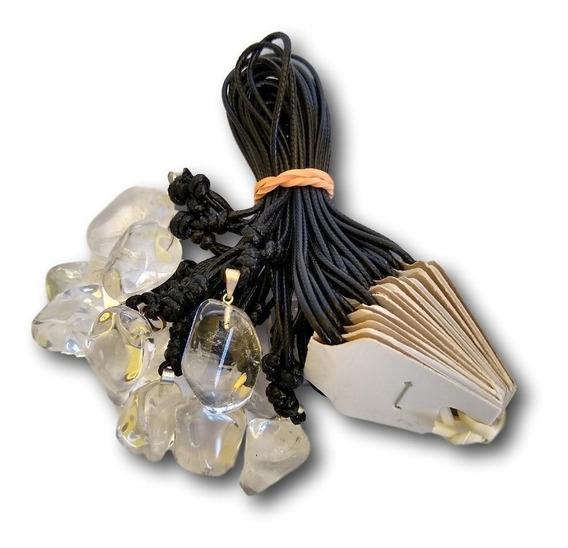 Colar De Pedra Natural Cristal Ref :9516 (dúzia)