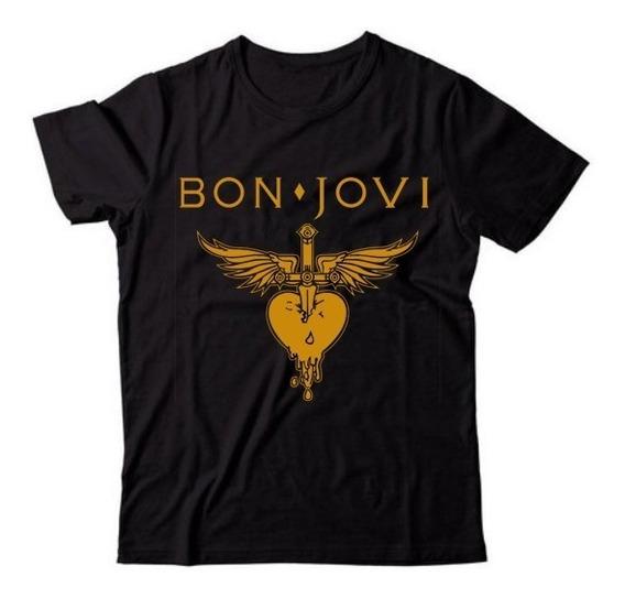 Camiseta Camisa Bon Jovi Rock In Rio 2019 Qualidade Superior