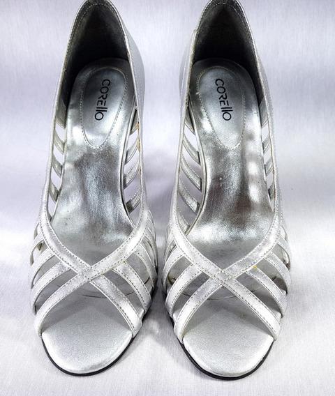 Sapato Feminino Corello Original Pipitu Prateado Nº 35 Usado