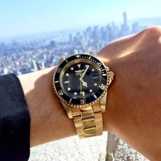 Relógio Invicta89290b Original Banhado A Ouro 18k Altomatico