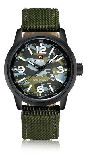 Relógio Naviforce Camuflado 9080 Militar Prova D