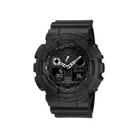 Relógio G-shock Casio Digital Analógico Preto Fundo Negativo