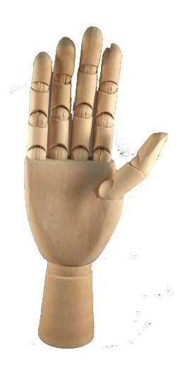 Manequim Mão Articulada De Madeira 30cm Direita