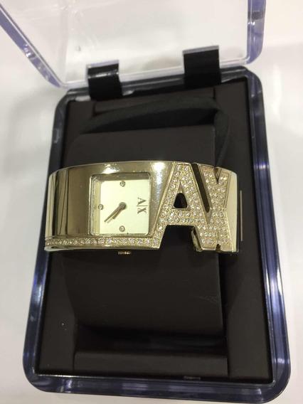 Relógio Feminino Armani Exchange Dourado C/ Swarowski