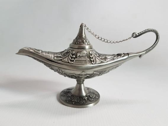 Lampara Aladino Cobre Y Plata 15,5 X 9 Cm