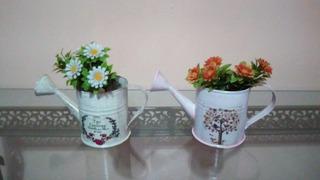 Regaderita Mini Con Flores