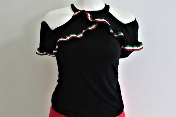 Blusa Campesina Mexicana Camisola Sin Mangas Mujer Casual