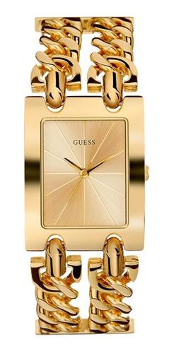 Reloj Guess Mod Heavy Metal Dama W1117l2 Dorado
