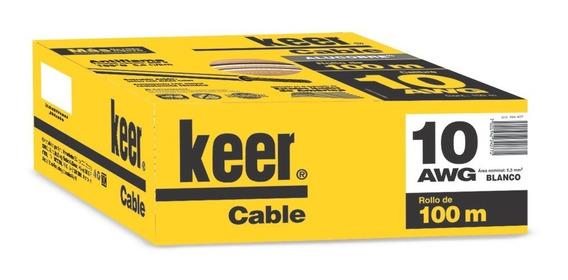Sanelec 4077 Cable Thw Calibre 10 Awg Color Blanco 100m