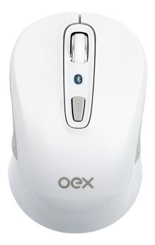 Mouse Bluetooth Oex  1600dpi Branco Ms406