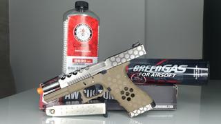 Pistola Airsoft Glock G17 Vx0110 + 5200 Bbs + Green Gas Puff
