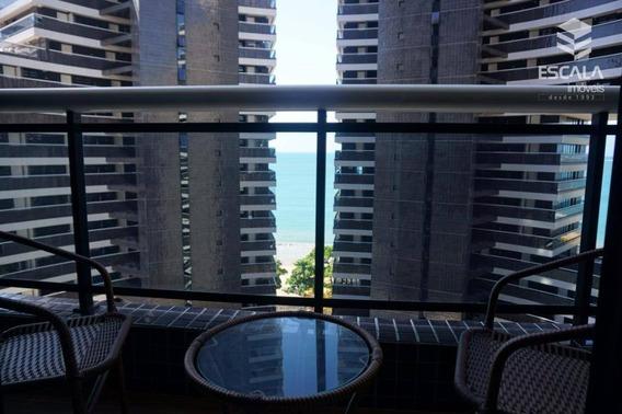 Apartamento Para Locação, 1 Quarto, Mobiliado, Beira Mar, Com Internet / Tv A Cabo - Ap0475