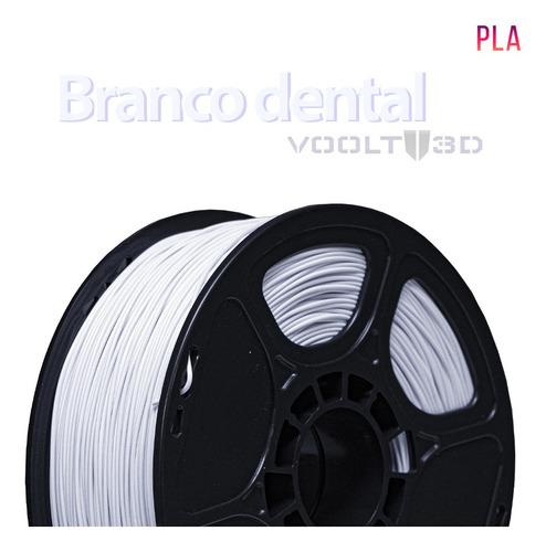 Imagem 1 de 1 de Filamento Impressão 3d Voolt Pla Branco Dental 1kg