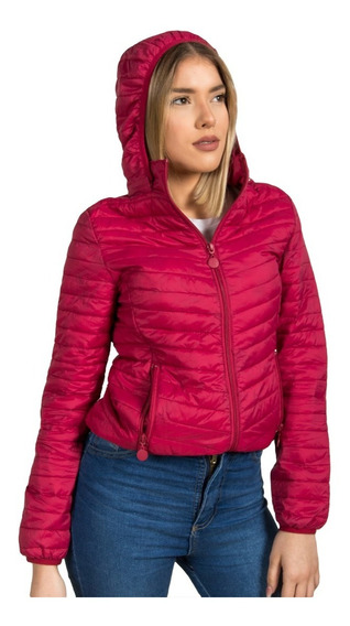 Campera Inflable Ultra Liviana Mujer Capucha Desmontable