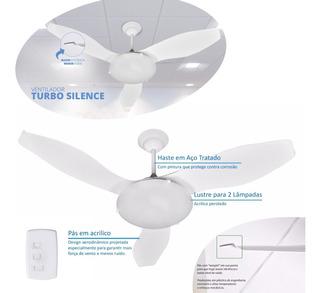 Ventilador De Teto Turbo Silence Ultra Silencioso Luminária