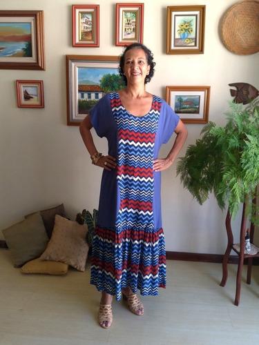 Vestido Feminino Tecido Longo Janeci