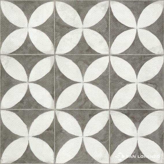 Ceramica 45x45 Flower White San Lorenzo 1era Calcareo